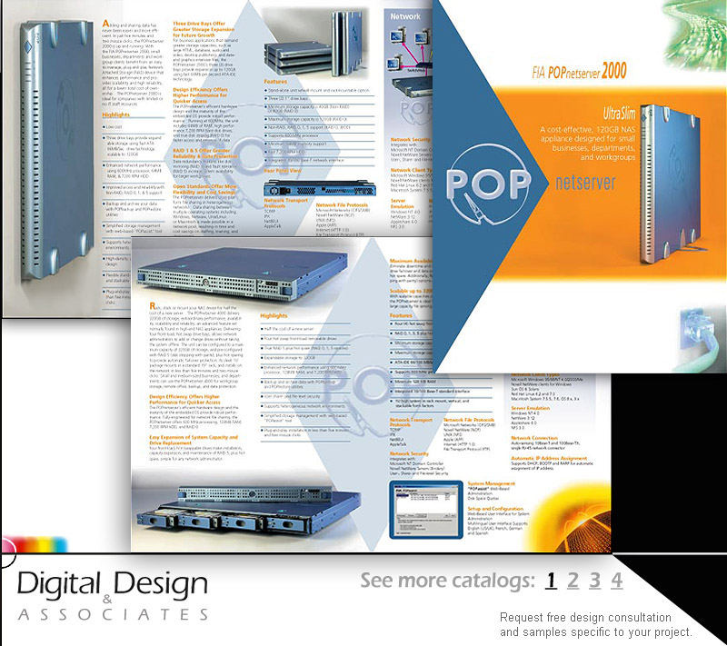 CATALOG DESIGN - Layouts involved art direction, graphic design, product photography with image selection, text editing/proofing and offset printing coordination.