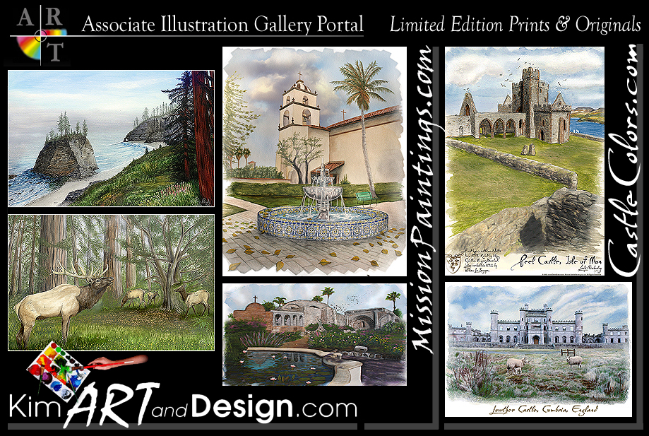 Associate Gallery Portal for Illustrations by Kim Reid